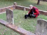 Black Cat in the Cemetery
