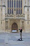 Street musician in Bath