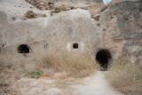 Rooms built into the rock
