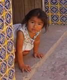 Little Girl Tile Doorway - One