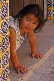 Little Girl Tile Doorway - Two
