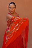 Flamenco Flower Shawl