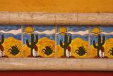 Color Block Scenic Tile
