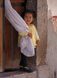Little Girl White Curtain 4