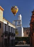 Balloon Over Church Tower