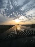 Coucher de soleil sur les prairies