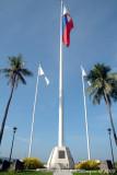 The flag flies high
