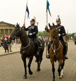 Police horses (Willow on the right)
