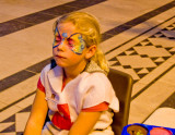 Face painting in the Cathedral