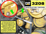CAT 3209 NEW STYLE IDLER PULLEY BELT TIGHTENER