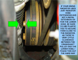 LOWER RADIATOR HOSE AND CRACKSHAFT PULLEY CLEARENCE