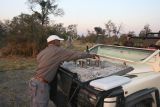 Preparing traditional sundowners, refreshments served as the sun sets.
