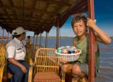 Approaching  a fishing village on Tonle Sap Lake
