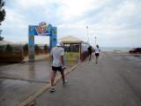 Glenn slows to check out the fun Eurobaby park