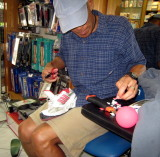 after resigning to the brace, Glenn does shoe surgery to make it fit