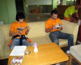 Spartathlon competitors read the Badwater brochures