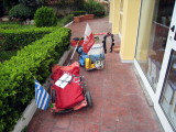 Piotr's and Pawel's carts used to run from Poland to Greece (3000km) for the Spartathlon