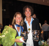American champs (Scott overall in 22:20 hrs and Stacey 2nd female in 31:25 hours)!
