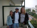 Lisa, Glenn & Allison arrive at John's Hotel in Glyfada