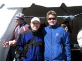 keith knipling & bill thom. keith says i liked the wind; it kept the course interesting.