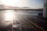 At Newcastle airport