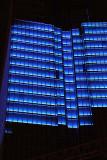 Night illumination on building