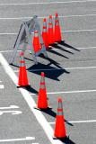 Cones in the car park