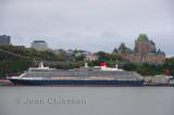 Queen Victoria_ Southampton ( First visit  at Quebec)  90,000 Tonnes  964,5pi  (294 m) 2,014 passengers & Château Frontenac