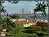 Jardim Botânico da Ajuda - Vista da Ponte 25 de Abril