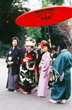 During the Shinto wedding ceremony