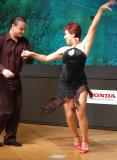 Harmony and talent among the dancing couple
