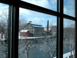 mill through the window...