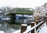 bailey's bridge after the snow...
