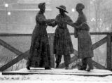women in a snow storm..