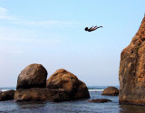 High Dive from Galle Fort Sri Lanka