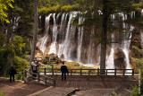 Photographers at Pearl Shoal Falls, the prettiest in Jiuzhai Nature Park