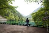 Jun is reminiscing at Five Flowers Lake
