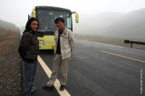 Our guides in front of our private bus