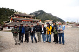 At the monastery, a group shot to end the day.