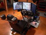 Simulated Miata cockpit