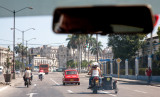 Transporte en moto con sidecar (La Habana)