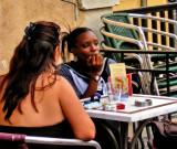 A sidewalk café of Le Panier district