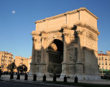 La porte d'Aix - Arrival with the morning moon.