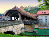 The covered bridge of the old town...