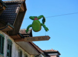 Our Museum the frog says...let's follow the sign!