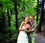 Don't slip away from your own wedding party to go for a walk in the forest.