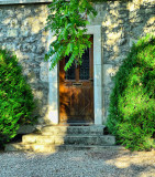 The sundappled door surrounded by green surely looks for a partner in the Emerald Isle...