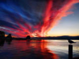 Psychedelic sunrise cloud