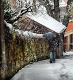 Snow in Diagon Alley