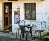 The old fashioned charm of a little alpine café...